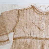 Gown 1 (etching, wax imprint)