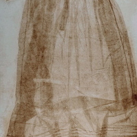 Gown 4 (etching, wax imprint)